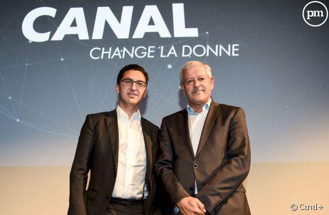 Maxime Saada, directeur général du groupe Canal+ et Frank Cadoret, directeur général France