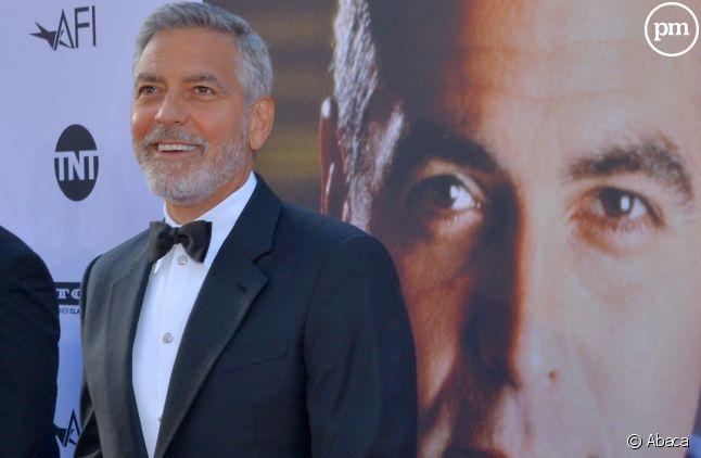 George Clooney sur la première marche du podium