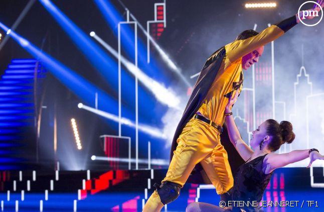 """Jeanfi Janssens et Marie Denigot, lors du 5ème prime time de """"Danse avec les stars""""."""