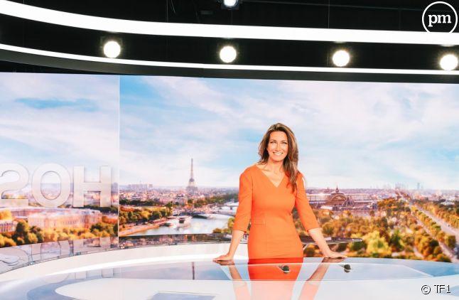 """Le journal de """"20 Heures"""" d'Anne-Claire Coudray."""
