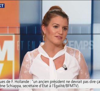 Marlène Schiappa sur le plateau de BFMTV