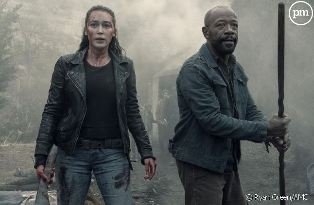 "Alycia Debnam-Carey et Lennie James dans ""Fear the Waling Dead"""