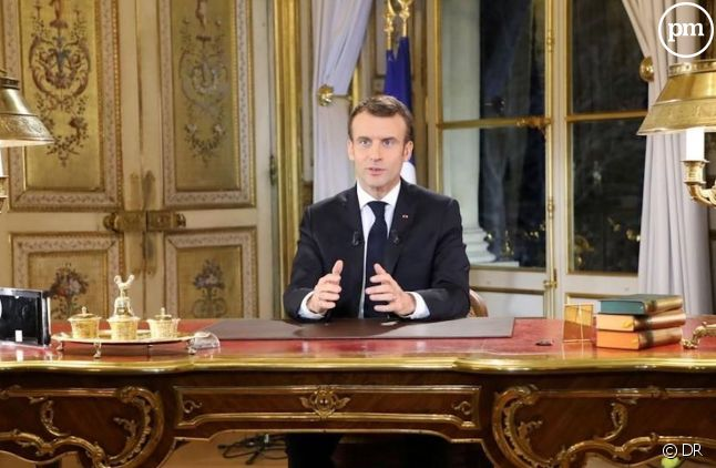 Emmanuel Macron le 16 avril 2019.