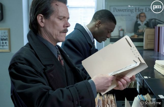 "Kevin Bacon et Aldis Hodge dans ""City on a Hill"""