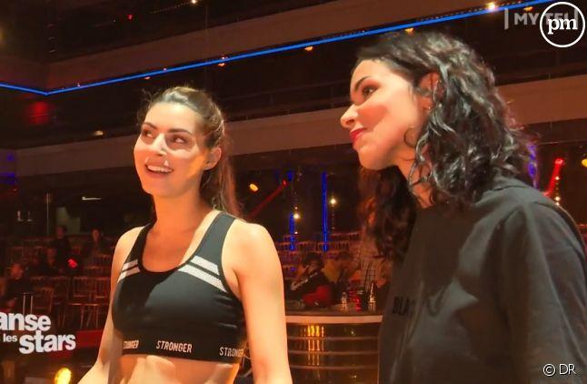 """Candice Pascal et Shy'm sur le plateau de """"Danse avec les stars"""""""