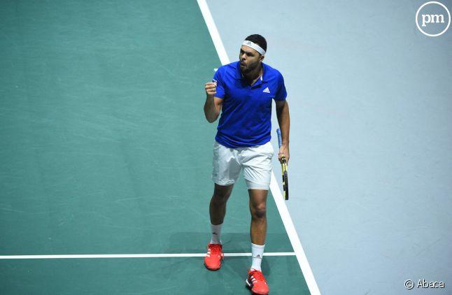 <span>Jo-Wilfried Tsonga a remporté son match face au Japon lors du premier tour de la Coupe Davis.</span>
