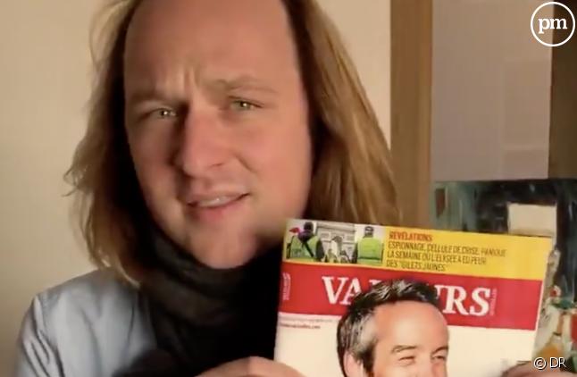 """Geoffroy Lejeune s'était indigné le mois dernier du piratage de son magazine par """"Quotidien"""""""