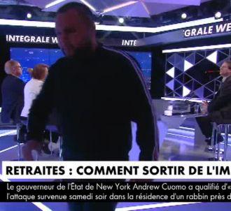 Le syndicaliste quitte le plateau de CNews.