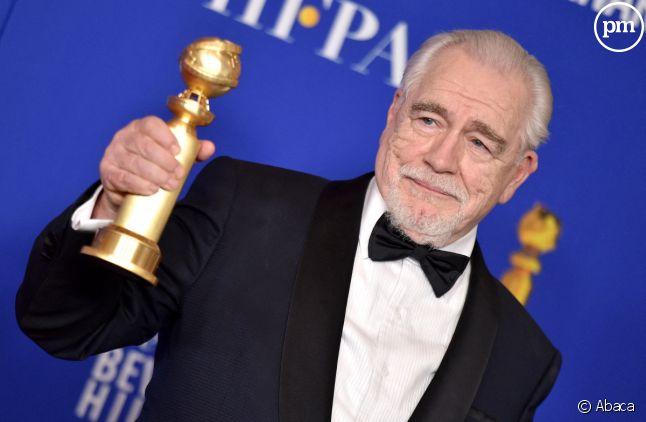 """Brian Cox et son Golden Globe de meilleur acteur dans une série dramatique pour """"Succession"""""""