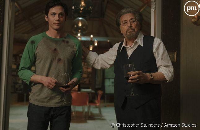 """Logan Lerman et Al Pacino dans """"Hunters"""""""