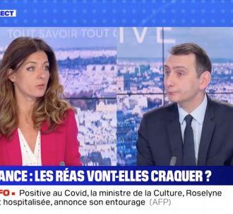 Clash entre Coralie Dubost et Laurent Jacobelli sur BFMTV.