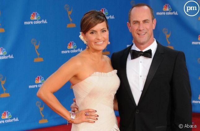 Mariska Hargitay et Christopher Meloni aux Emmy Awards 2010