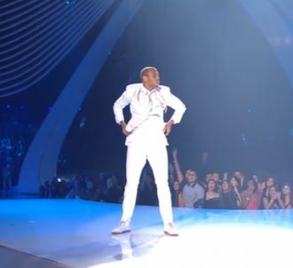 Chris Brown lors des MTV Video Music Awards 2011