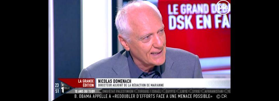 Nicolas Domenach le 9 septembre sur i-TELE.