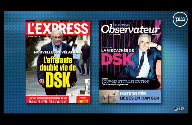 Les Unes du Nouvel Observateur et de L'Express.