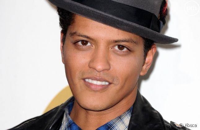 Bruno Mars lors de l'annonce des nominations aux Grammy Awards 2012