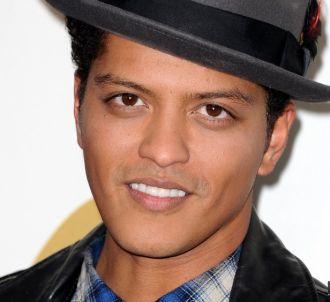 Bruno Mars lors de l'annonce des nominations aux Grammy...