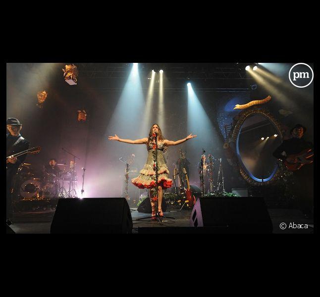 Olivia Ruiz, en concert à Lille dans la salle de l'Aéronef, en 2009