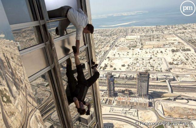 """Jeremy Renner et Tom Cruise dans """"Mission : Impossible - Protocole Fantôme"""""""