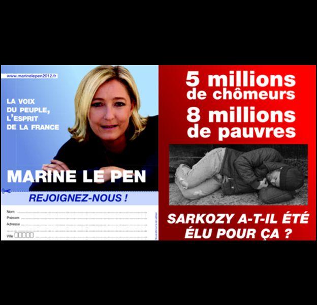L'affiche de campagne de Marine Le Pen.