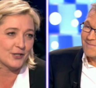 Marine Le Pen et Laurent Ruquier, sur le plateau de 'On...