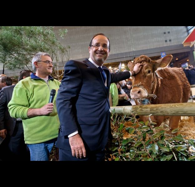 François Hollande au salon de l'agriculture, en 2012.