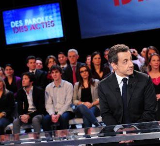 Nicolas Sarkozy face à Hélène Jouan.