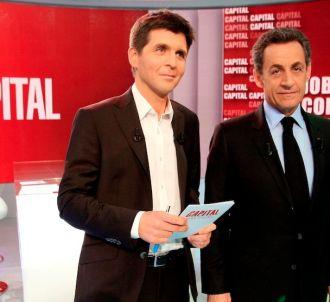 Thomas Sotto et Nicolas Sarkozy