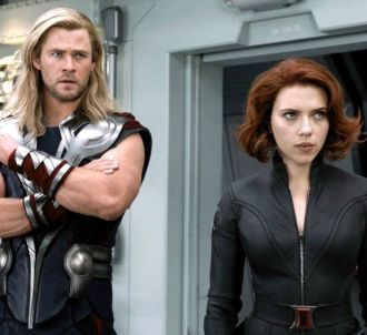 Chris Hemsworth et Scarlett Johansson dans 'The Avengers'