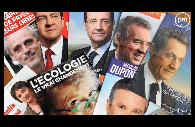 Les candidats à l'élection présidentielle 2012