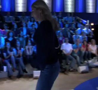 Mathilde Seigner vexée dans 'On n'est pas couché'.