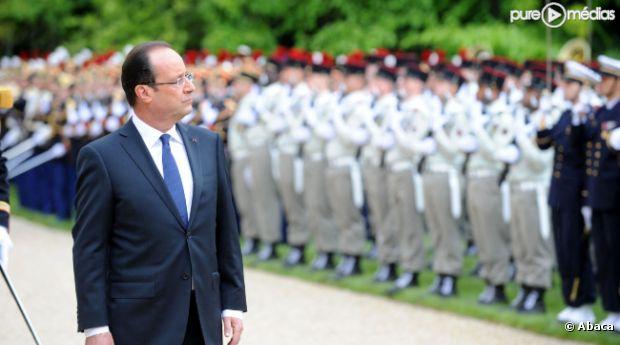 François Hollande, nouveau président de la République le 15 mai 2012 à l'Elysée.