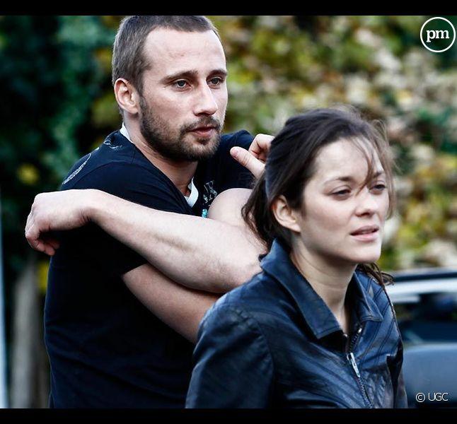 """Matthias Schoenaerts et Marion Cotillard dans """"De rouille et d'os"""""""