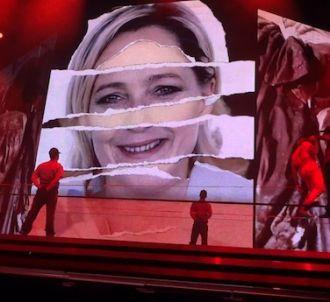 Marine Le Pen dans une vidéo sur la tournée de Madonna
