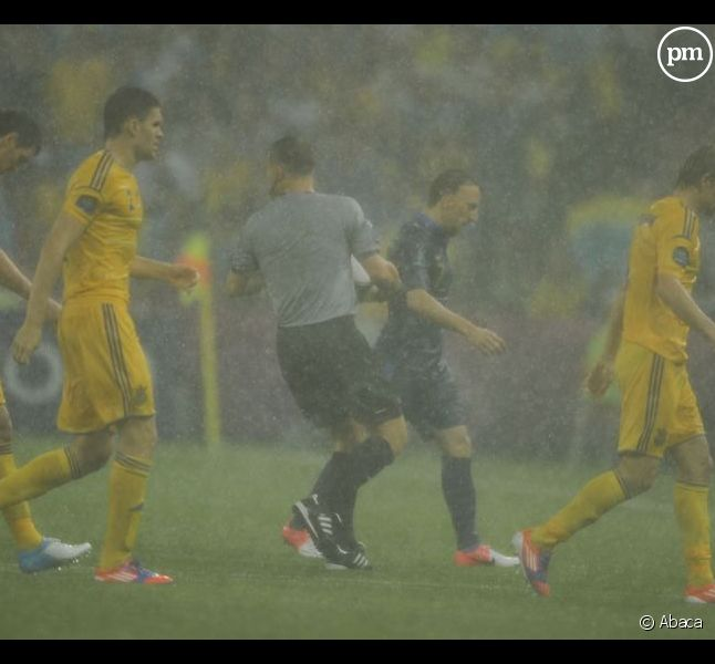 Le match Ukraine/France interrompu par la pluie