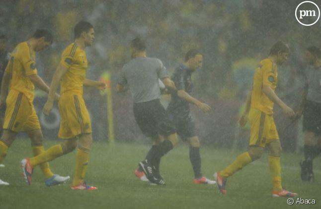 Le match Ukraine/France interrompu par la pluie