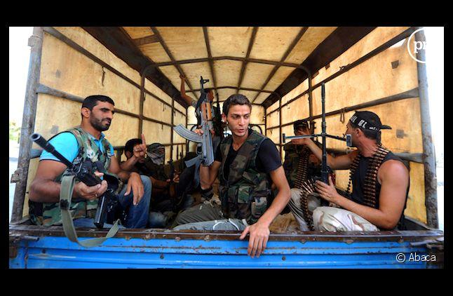 Armée syrienne libre dans un quartier d'Alep