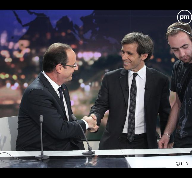 François Hollande interrogé par David Pujadas, le 29 mai 2012.