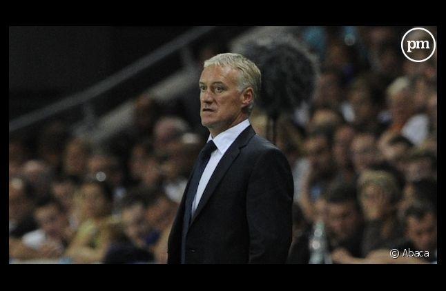 Didier Deschamps, capitaine de l'équipe de France de football.