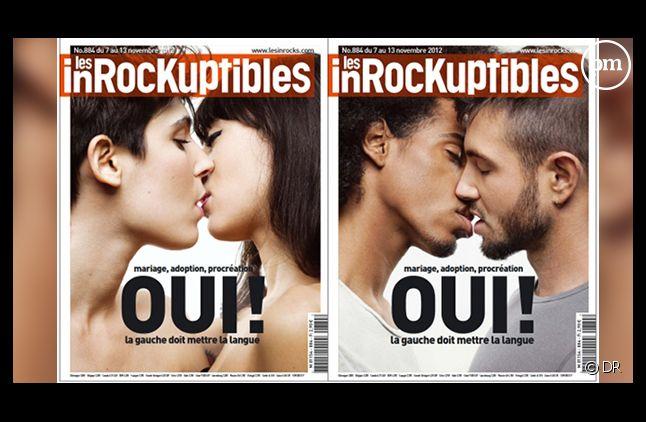 La double Une des Inrocks consacrée au mariage gay.