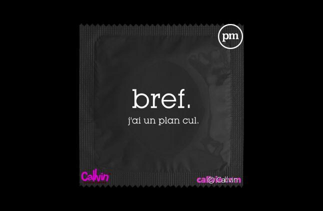 """Le fabricant de préservatif Callvin edite une série limitée """"Bref""""."""