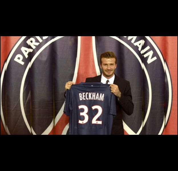 David Beckham arrive au PSG