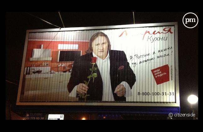 Gérard Depardieu fait une pub' pour un cuisiniste russe