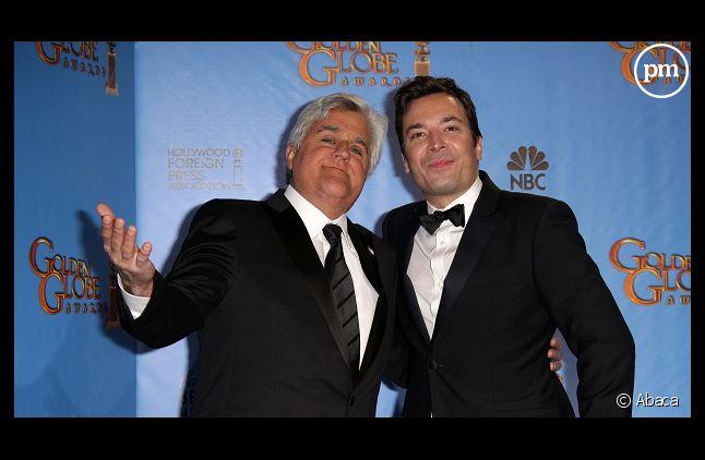 "Jimmy Fallon remplace Jay Leno à la présentation du ""Tonight Late Show""."