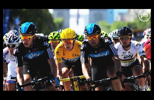 <span>Bradley Wiggins, vainqueur du Tour de France 2012</span>