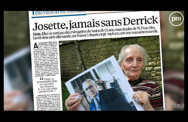 "Josette, 81 ans, veille jusqu'à 2 heures du matin pour regarder ""Derrick"""