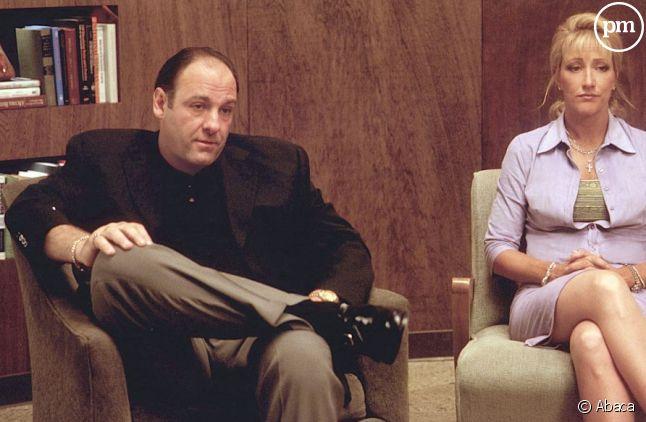 "James Gandolfini dans ""Les Soprano"""