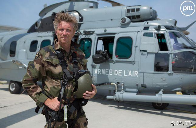 Denis Brogniart, en préparation pour le défilé du 14 juillet sur TF1