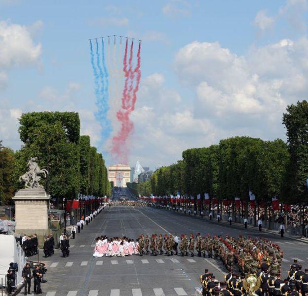 Défilé du 14 juillet, retransmis en direct sur TF1 et France 2