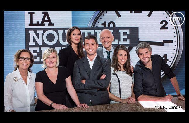 """La nouvelle équipe de """"La nouvelle édition"""", chaque midi sur Canal+."""